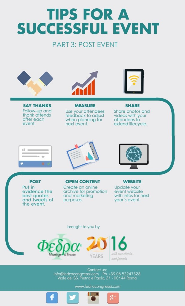 Tips for a successful event: post event [infographic]