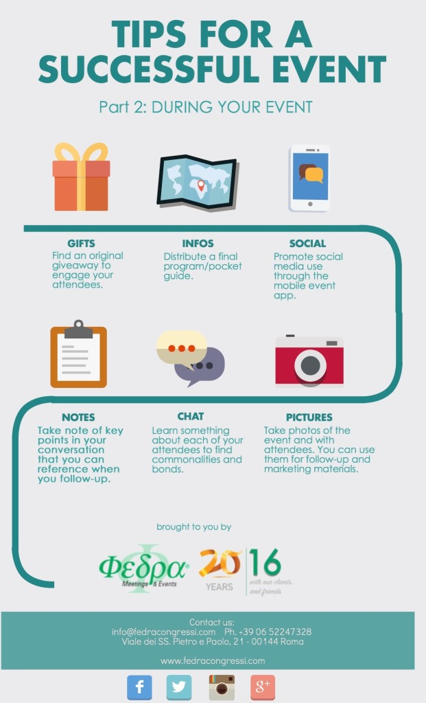 Tips for a successful event: DURING YOUR EVENT [infographic]
