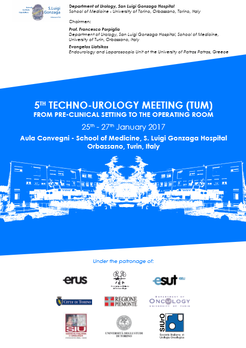 5th TECHNO-UROLOGY MEETING – Orbassano(TO), January 25th-27th, 2017