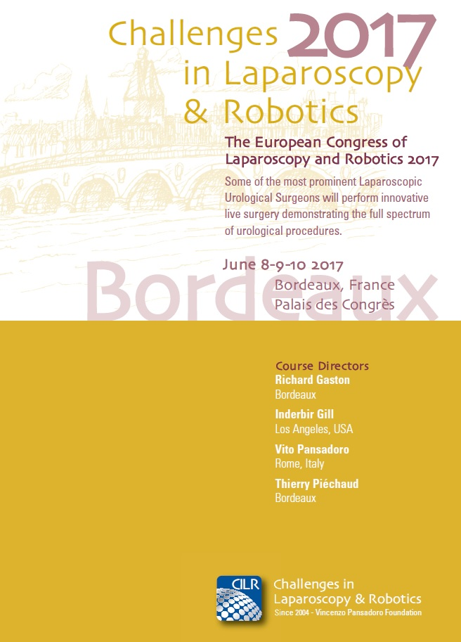 Challenges in Laparoscopy & Robotics 2017 – Bordeaux, June 8th-9th-10th – Palais des Congrès
