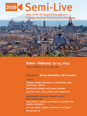 Semi-Live 2019 – Rome, Church Palace, February 21st-23rd, 2019