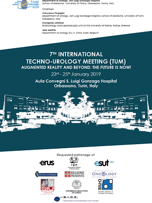 7th Techno-Urology Meeting (TUM) – Orbassano, San Luigi Gonzaga Hospital, January 23rd-25th, 2019