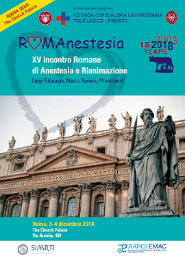 RomAnestesia 2018 – Roma, The Church Palace, 3 – 4 Dicembre 2018