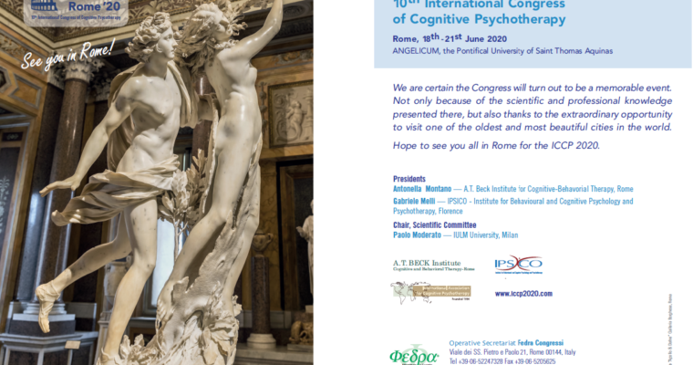 10th International Congress of Cognitive Psychotherapy, Rome  18th- 21st June 2020