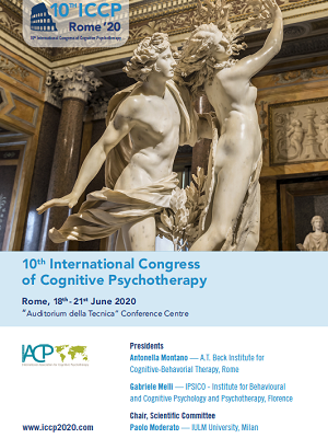 "ICCP2020 – International Congress of Cognitive Psychotherapy – Rome, ""Auditorium della Tecnica"" Conference Centre, June 18th-21st, 2020"