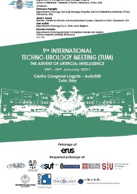 9th International Techno-Urology Meeting,(TUM), Lingotto Meeting Center, Turin, January 28th-29th 2021