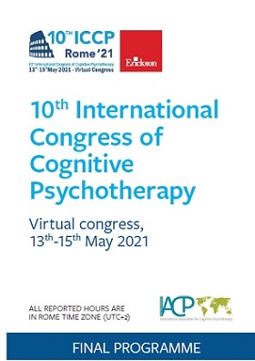 ICCP2021 – International Congress of Cognitive Psychotherapy – Virtual Meeting May 13th-15th , 2021