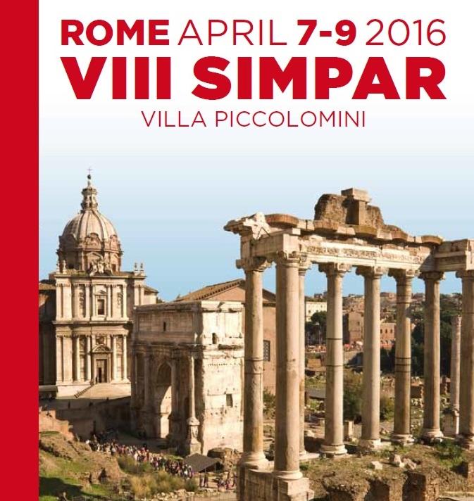 SIMPAR 2016 – Rome, Villa Piccolomini, April 7th – 8th – 9th, 2016