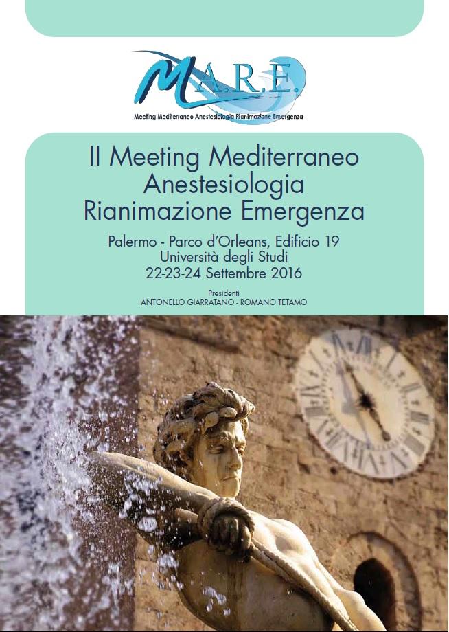 II Meeting Mediterraneo Anestesiologia Rianimazione Emergenza – Palermo, Parco d'Orleans Edificio 19, 22-23-24 Settembre 2016