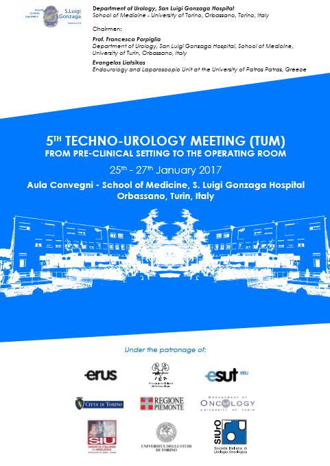 5th TECHNO-UROLOGY MEETING – Orbassano(TO), January 25th-27th, 2017