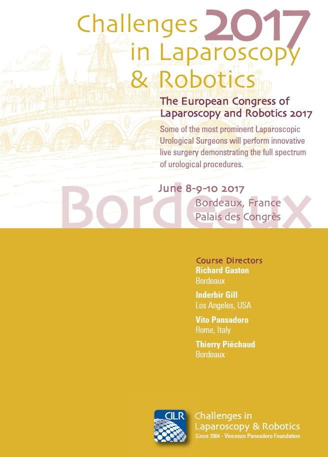 Challenges in Laparoscopy & Robotics 2017 – Bordeaux, June 8th-9th-10th – Palais des Congrès