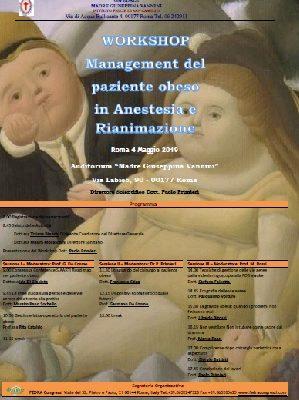 Workshop 04 Maggio 2019 Management del paziente obeso in Anestesia e Rianimazione