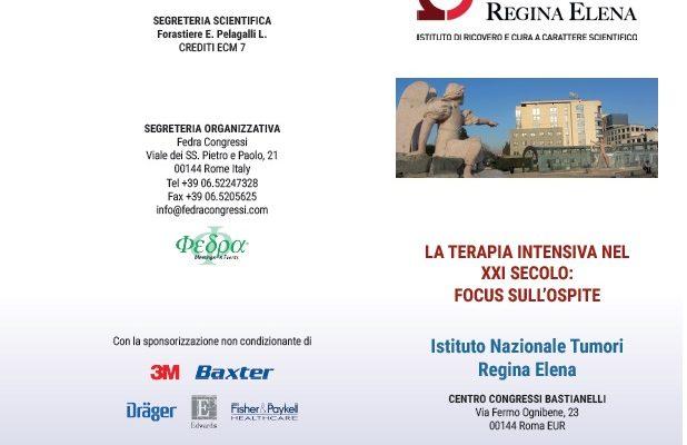 La Terapia Intensiva nel XXI secolo: focus sull'ospite. Roma IRE, 20 giugno 2019